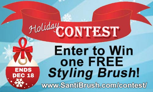 Enter to win a free styling brush